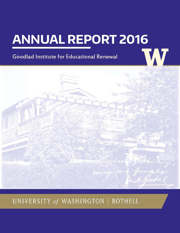 Goodlad Institute Annual Report FY 2016